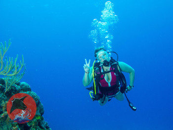 Female Diver with Snorkel Friends